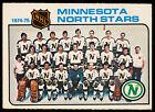 1975 76 OPC O PEE CHEE Hockey #89 MINNESOTA NORTH STARS TEAM NM UMARKED Card