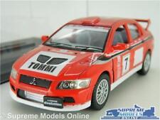 MITSUBISHI LANCER VII CAR MODEL 1:36 SIZE RALLY RED + DISP CASE SPORT KINSMART T