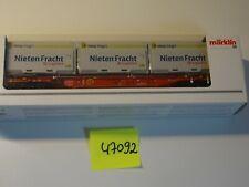 Märklin HO Art 47092 Container Tragwagen der DB  So-Modell I+Sp      neu/OVP