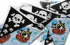 Boy Pirate Birthday Party Banner flag Bunting 14 pennants New