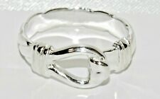 Sterling Silver 925 Hook Ring - ALL SIZES AVAILABLE - Men's or Ladies - UK MADE