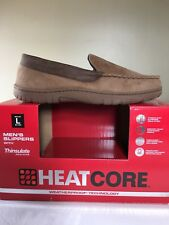 Mens Lrg HEAT CORE House Slippers. Tan in color, never been worn.