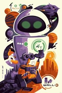 TOM WHALEN - Wall-E Art Print Poster *RARE* mondo disney walle