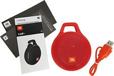 JBL Clip+ Plus Splashproof Portable Bluetooth Wireless Speaker Red w/ Mic New