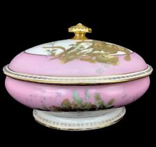 Vintage Waldorf Astoria NYC Hotel China S&S Limoges Porcelain Soup Tureen Pink