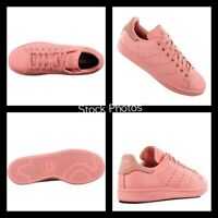 Adidas Stan Smith Trainers Men's Sneakers Shoes Leather Pink BZ0469 Sz 10