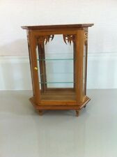 Vintage Wood and Glass Display Carbinet Thai Craft Handmade
