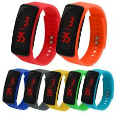 Silicone Wrist Watch for Children Kids LED Screen Electronic