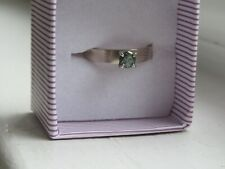 Blue Green Diamond 14 k gold ring Size 5.5