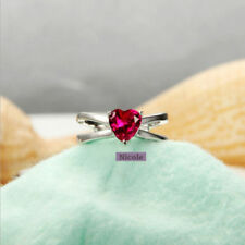 Unbranded Love & Hearts Ruby Fashion Rings