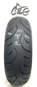 Bridgestone Battlax T30r 180/55zr17 73w  Part Worn MotorcycleTyre 1110