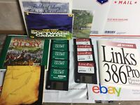 Lot Of 2 Vintage PC Games IBM Disks Fields Of Glory,Link 386 Pro Golf Game 1990s