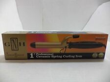 """Gold N Hot Ceramic Round Hair 1"""" Hot Curling Iron Round 6ft Swivel Cord"""