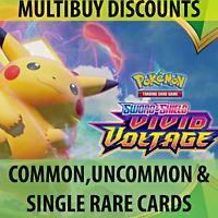 Pokemon - SWSH Vivid Voltage Single Cards - Rare / Uncommon / Common Pack Fresh
