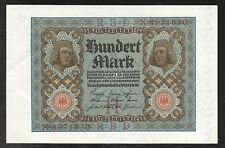 Germany - Old 100 Mark Note - 1920 - P69a - AU