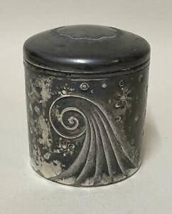 Art Deco Derby Silver Company - American Silver Plate Covered Pot / Canister Box