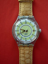 SWATCH AUTOMATIC AVENIDA - SAG400 - 1994 - NEW - leather strap - RARE