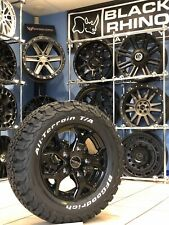 "16"" ALLOY WHEELS VW T5 T6 BFG ALL TERRAIN TYRES GLOSS BLACK SWAMPER"