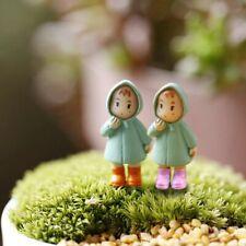 New 1PCS Cute Mini Figurines Miniature Girl Mei Resin Crafts Ornament Fairy Gard