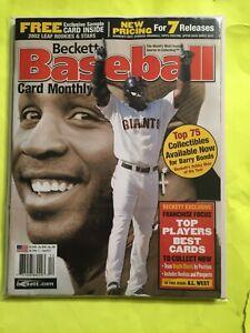 Beckett Baseball Card Monthly Barry Bonds December 2002