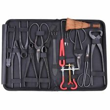 Bonsai Tool Set Carbon Steel Extensive 14-pc Kit Cutter Scissors W/ Nylon Case