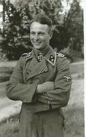 WW II  German   Photo ----   Soldier - Iron Cross