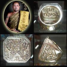 RING Phra Thep Pamon Jumlang KRUBA KRISANA King of Butterfly Thai Amulet Size 12