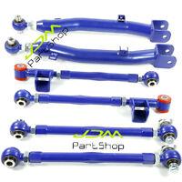 6 PCS REAR LATERAL LINK TRAILING ARM SUSPENSION BLUE for 02-07 Subaru WRX STI