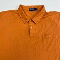 Polo Ralph Lauren Polo Shirt Mens 2XL XXL Short Sleeve Orange Casual 100% Cotton