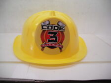 CODE 3 COLLECTIBLES CHILDRENS PLASTIC FIRE HELMET FROM COLLECTORS DAY NEVER USED