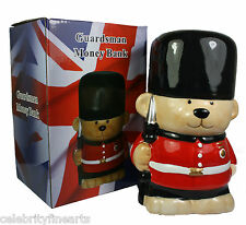 Guardsman Money Bank Box Bear Novelty Ceramic Buckingham Palace London GB NEW