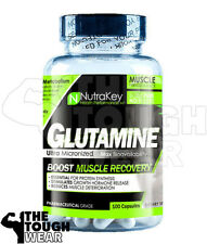 NUTRAKEY GLUTAMINE 1800mg 100CAPS - BOOST MUSCLE RECOVERY - PURE L-GLUTAMINE