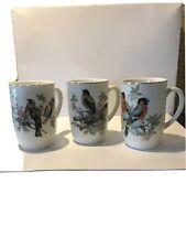 Vintage Japanese Ceramic Songbird Cups