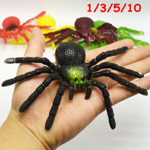 1-10x Simulation Spider Insect Model Toy Tricky Scary Toy Halloween Kids Adult