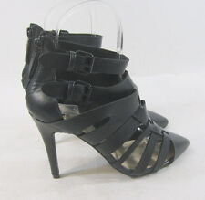 """new ladies BLACK 4""""Stiletto high heel pointy toe ankle strap sexy shoes Size 11"""