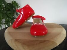 Girls shoes baby diamante party wedding bridesmaid christening Red Infant 1