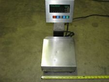 Toledo 3026 digital scale powered by 120 Volt AC with a 9 inch X 9 inch platform