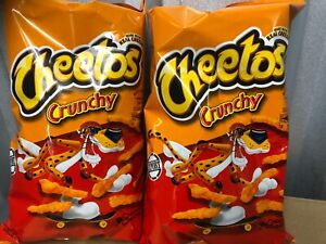 2x Cheetos Cheese Crunchy LARGE 8oz/226g Bags American Import Cheese Snack