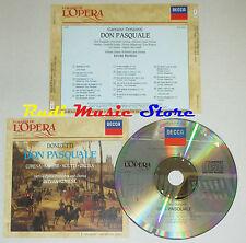 CD DONIZETTI Don pasquale CORENA KRAUSE SCIUTTI ONCINA grandi opera lp mc dvd