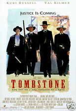 """Movie Poster - Tombstone - Val Kilmar - Kurt Russell """"Every town has a story...."""