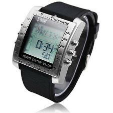 TV/DVD Remote Control Watch Stainless Steel Multifunction Digital