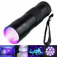 UV Ultra Violet Blacklight 12 LEDs Flashlight Torch Light_GG