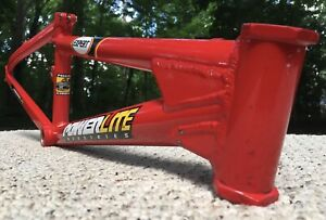 "Powerlite BMX Racing 7005 Aircraft Aluminum Frame Used Race Expert 19"" Top Tube"