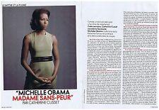 COUPURE DE PRESSE CLIPPING 2009 MICHELLE OBAMA Madame sans-gêne (4 pages)