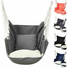 Large Garden Hammock  Rope Chair Hanging Swing Seat  Outdoor 6 Colors Comfy