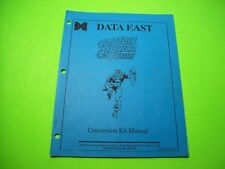 Data East CAPTAIN AMERICA Original Video Arcade Game Kit Service Repair Manual