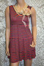Womens Pink Striped Summer Dress, Size: S
