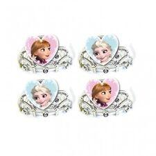 Disney FROZEN - 4 Plastic TIARAS (Official Party Hats/Costume/Anna/Elsa/Favours)