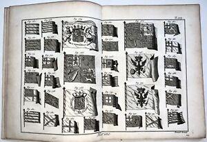 1783 Vial du Claurbois - Set of 8 large plates NAUTICAL FLAGS Maritime