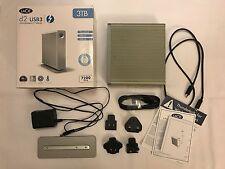 LaCie d2 USB3 / Thunderbolt 3TB External Hard Drive